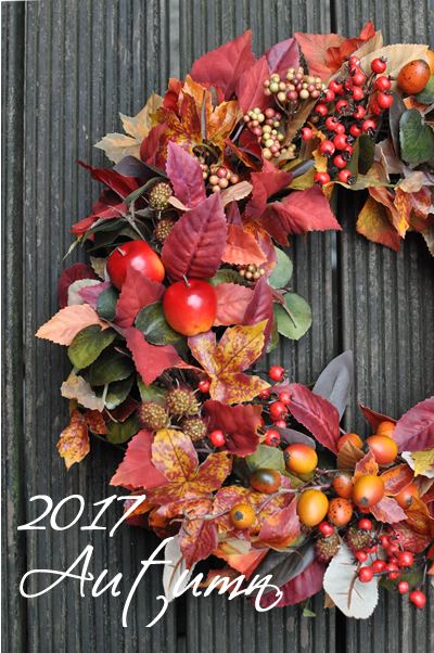 実りの秋のリース_3